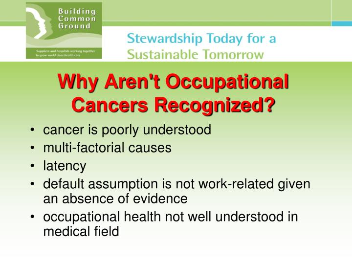 Why Aren't Occupational Cancers Recognized?