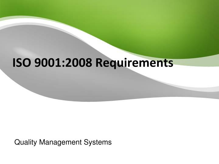 iso 9001 2008 requirements n.