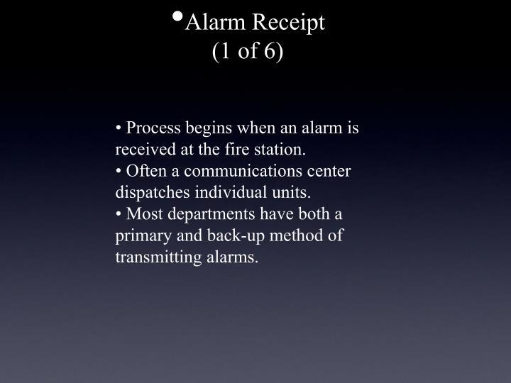 Alarm Receipt