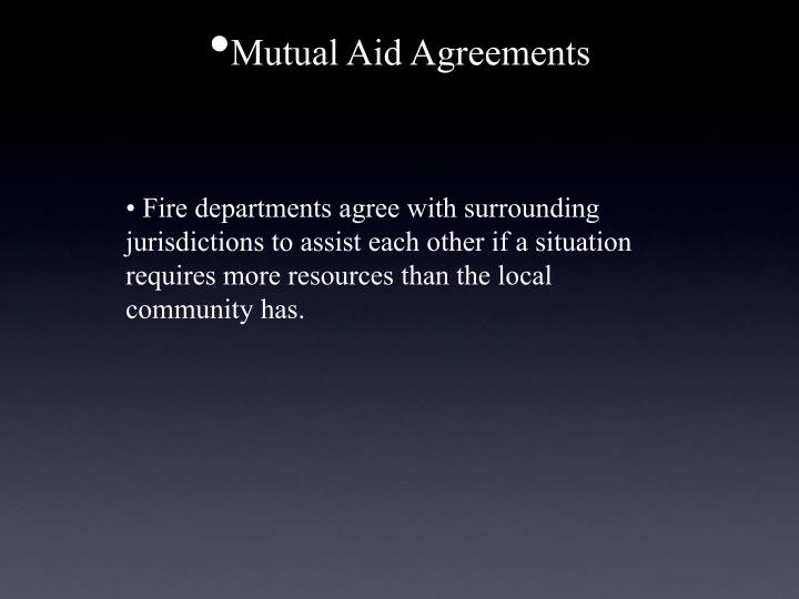 Mutual Aid Agreements