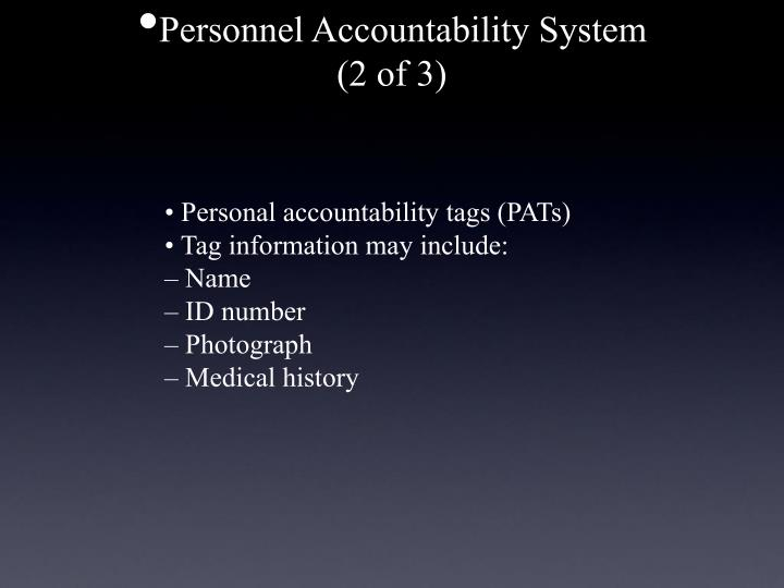Personnel Accountability System
