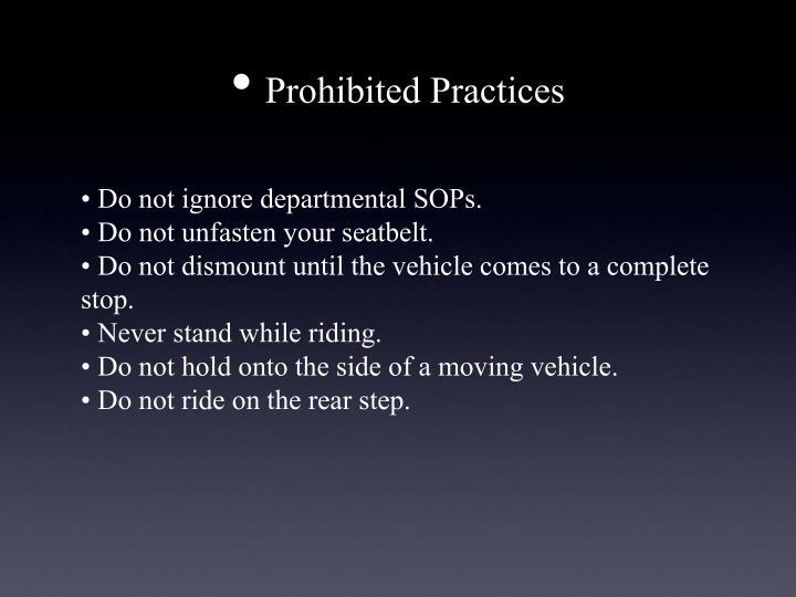 Prohibited Practices