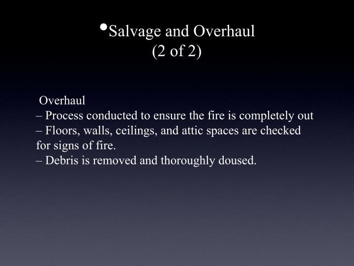 Salvage and Overhaul