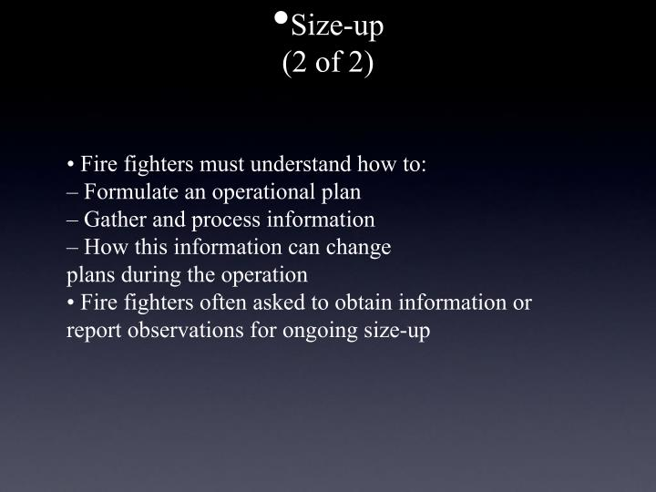 Size-up