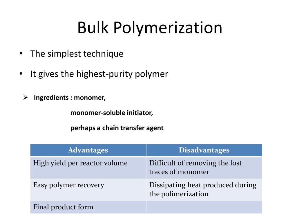 Ppt Bulk Polymerization Powerpoint Presentation Free