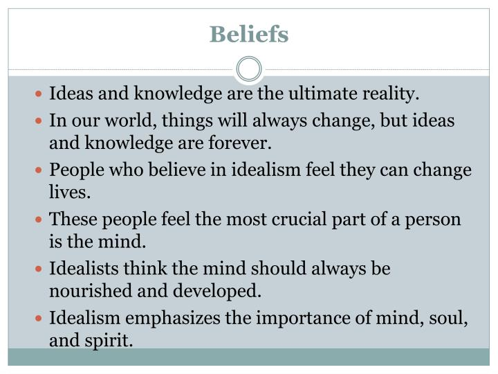 importance of idealism