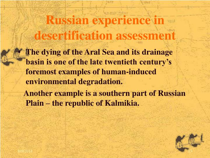 Russian experience in desertification assessment