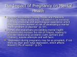 the impact of pregnancy on mental health