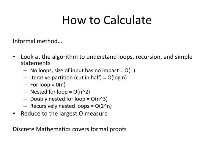 How to Calculate