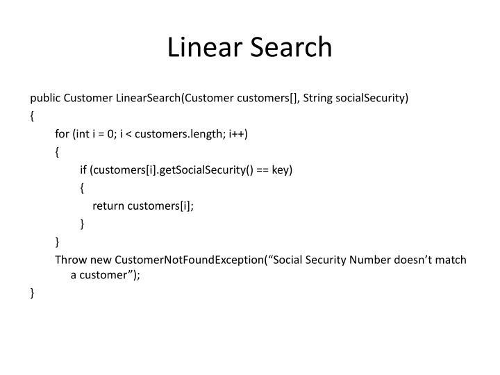 Linear Search