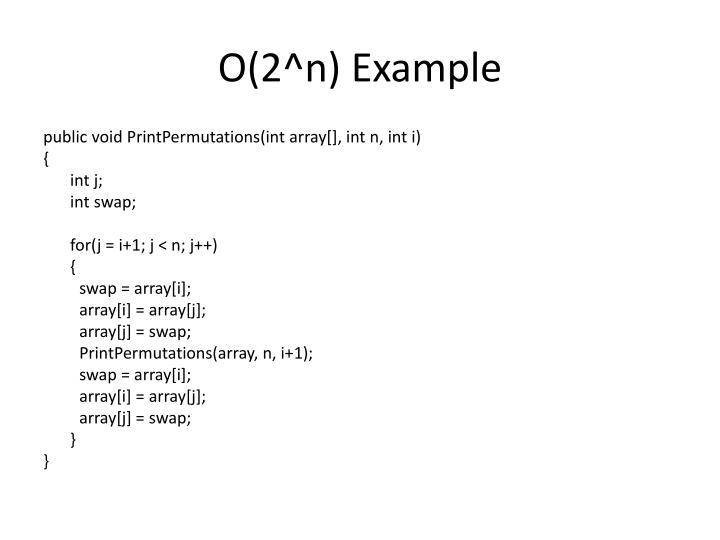 O(2^n) Example