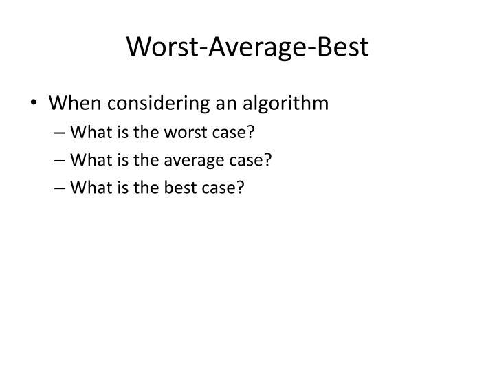 Worst-Average-Best