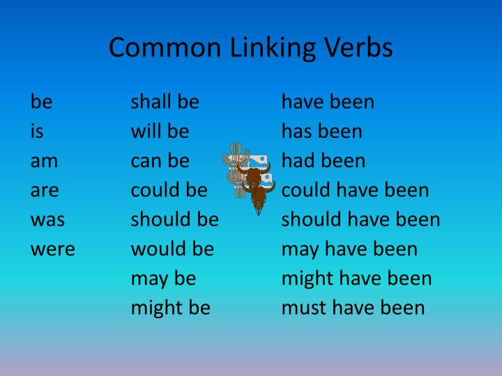 Common Linking Verbs