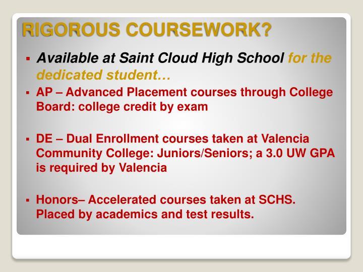 Available at Saint Cloud High School
