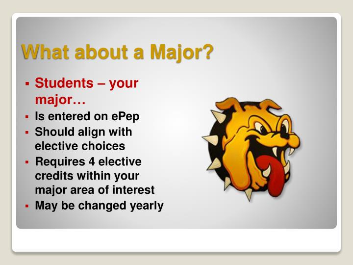 What about a Major?