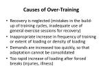 causes of over training
