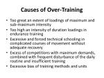 causes of over training1