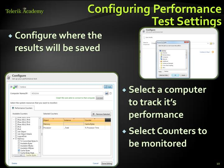 Configuring Performance