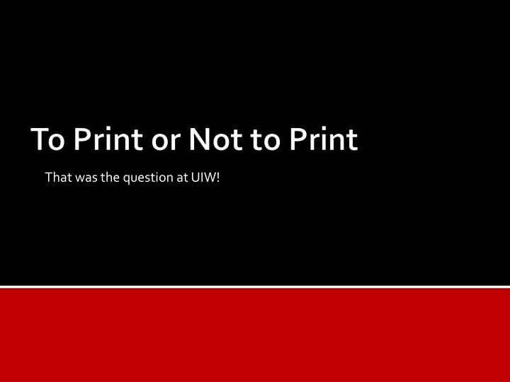 that was the question at uiw n.