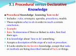 3 1 procedural versus declarative knowledge