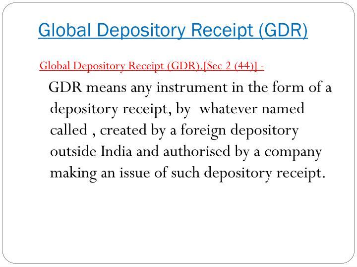 Global Depository Receipt (GDR)