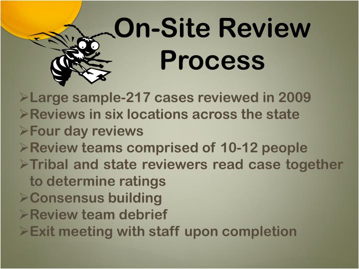On-Site Review Process