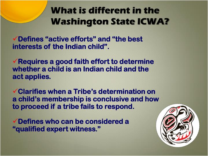 What is different in the Washington State ICWA?