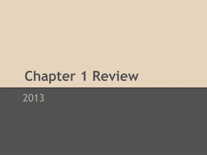 chapter 1 review n.