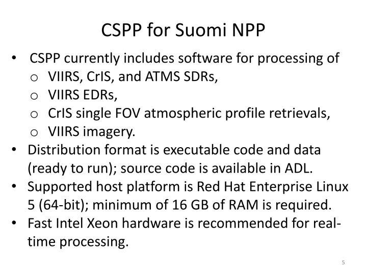 CSPP for Suomi NPP