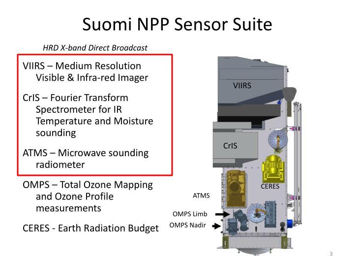 Suomi npp sensor suite