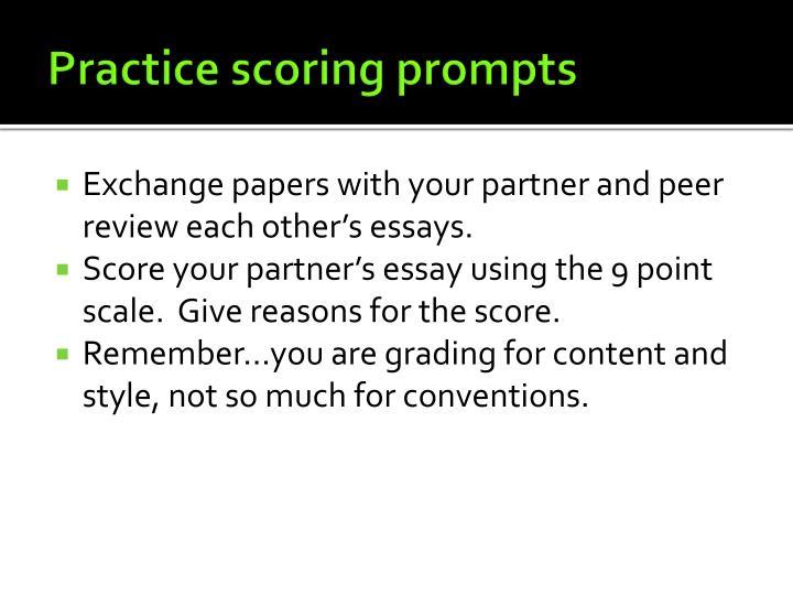 Practice scoring prompts