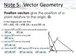 note 5 vector geometry