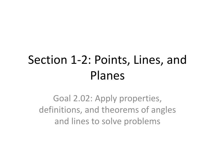 section 1 2 points lines and planes n.