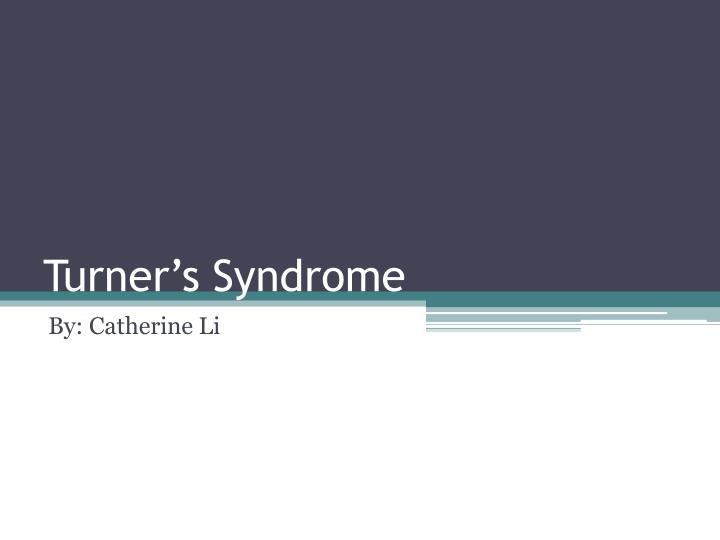 Turner s syndrome