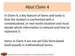 abut claim 4