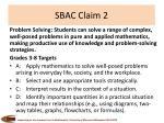 sbac claim 2