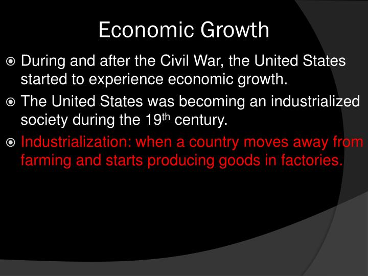 industrialization after the civil war thesis and outline Read this essay on industrialization after the civil war thesis and outline come browse our large digital warehouse of free sample essays get the knowledge you need.