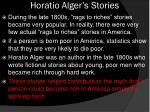 horatio alger s stories