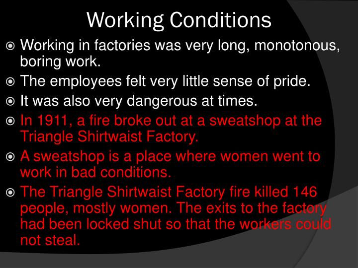 Working Conditions