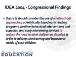 idea 2004 congressional findings