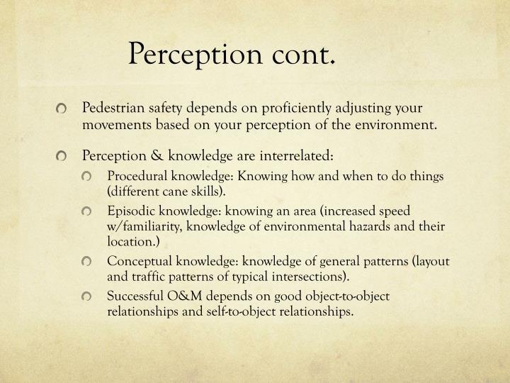 Perception cont