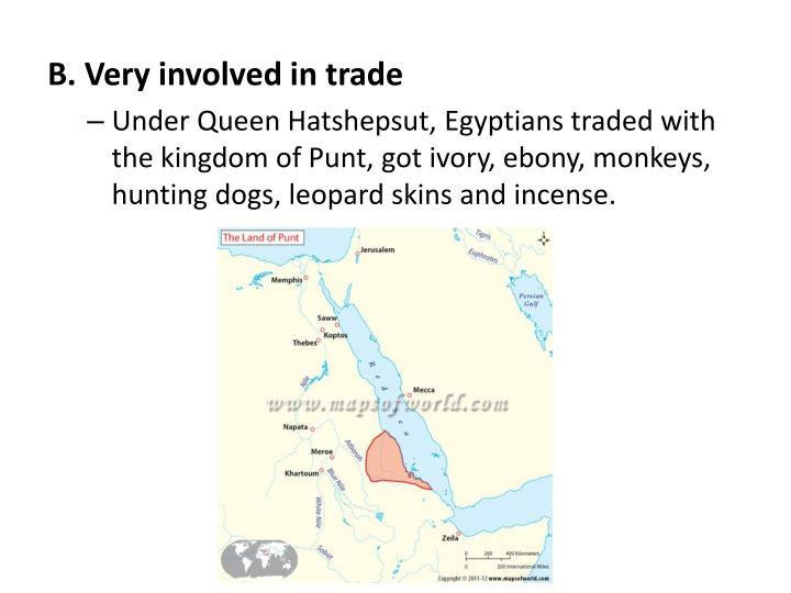 B. Very involved in trade