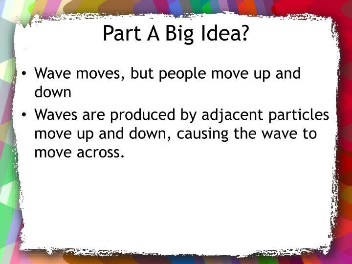Part A Big Idea?