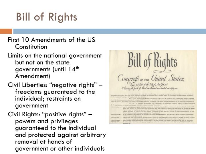 purpose of the first 10 amendments