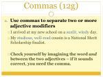 commas 12g