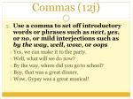 commas 12j