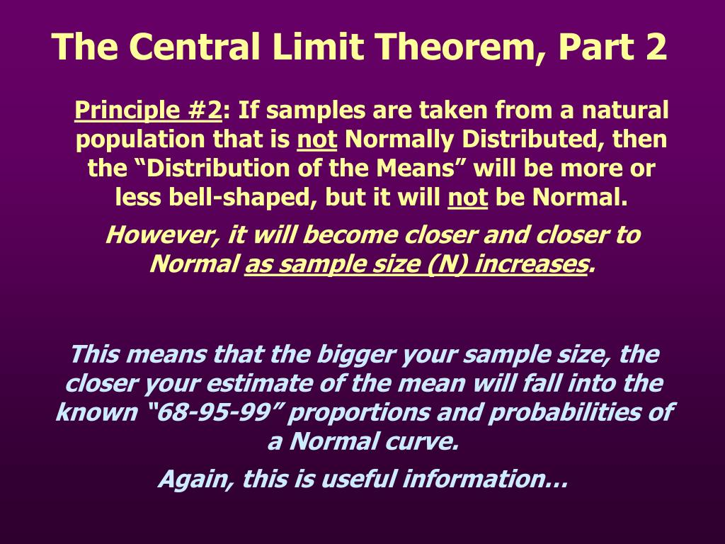 Principle limit theorem