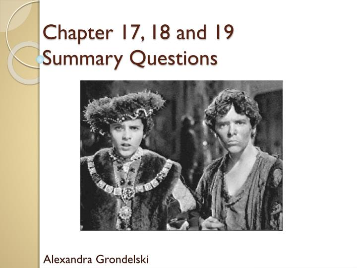 chapter 17 18 and 19 summary questions n.