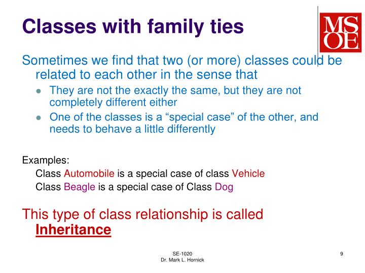 Classes with family ties