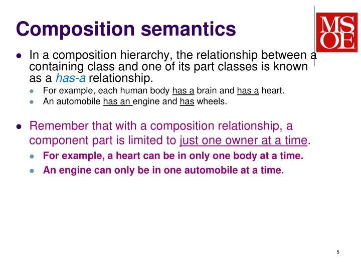 Composition semantics